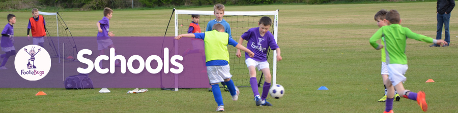 FootieBugs in Schools! - Fun football for kids from 3-11 years!