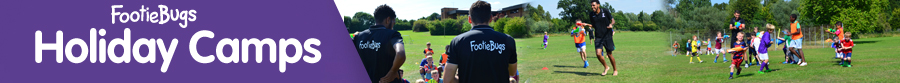 An action packed FootieBugs football holiday camp running during all school holidays!